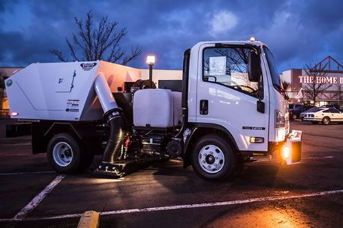 GJM Construction & Maintenance specializes in commercial power sweeping in MA and NH.